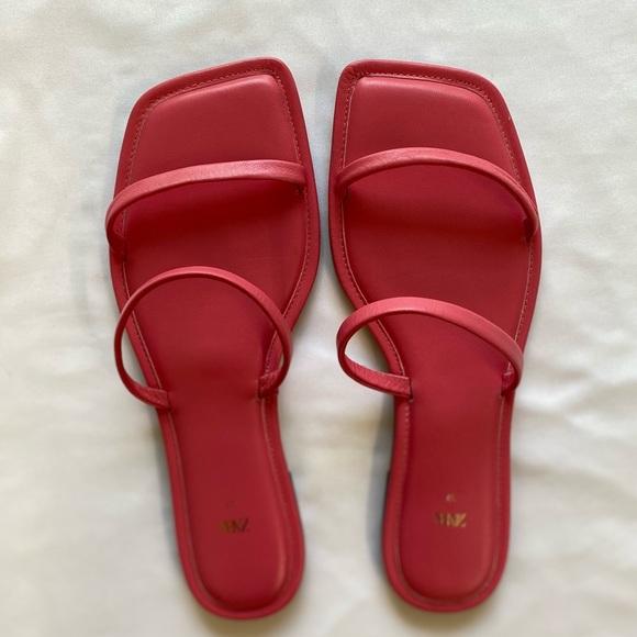 Pink Zara sandals!
